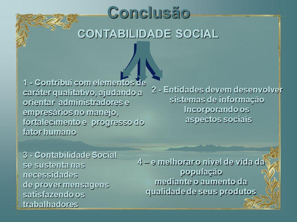 Conclusão 1 - Contribui com elementos de caráter qualitativo, ajudando a orientar administradores e empresários no manejo, fortalecimento e progresso