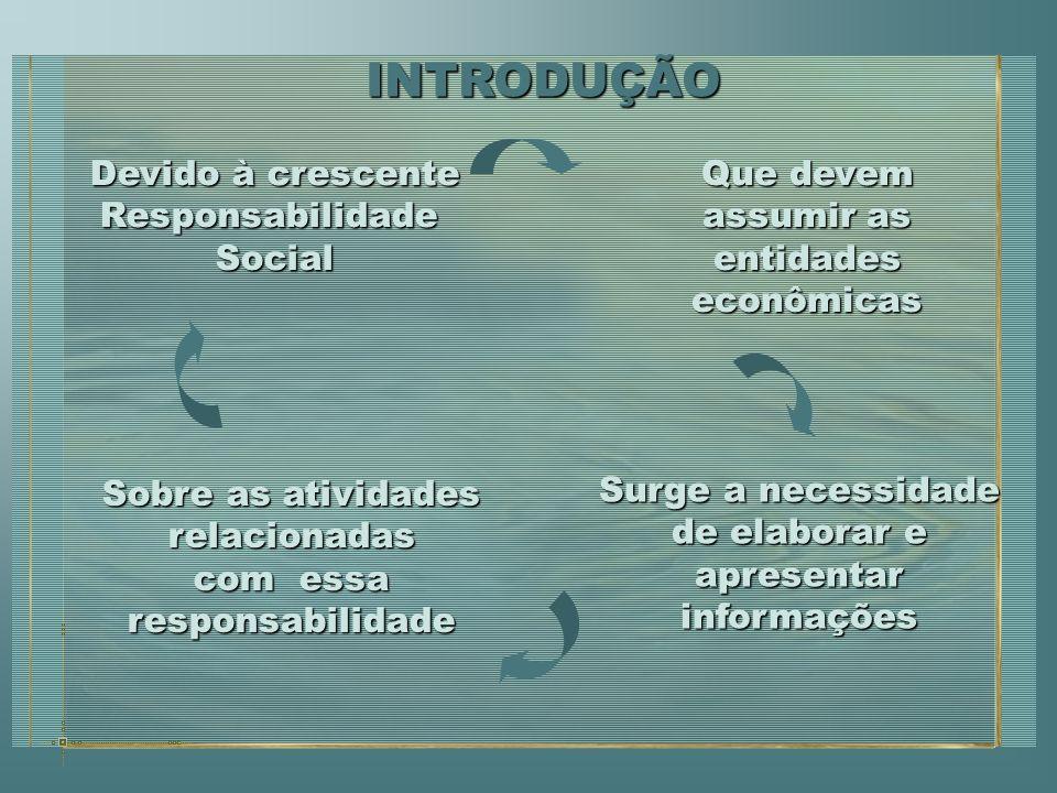 O Contador deverá ser o agente capaz de disseminar a responsabilidade social na sua organização e nas empresas a quem presta serviços.