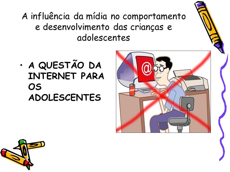 A influência da mídia: video games Revista Veja – 11 de janeiro de 2006 : Nestas férias escolares, pode-se apostar que os 10 milhões de crianças e adolescentes brasileiros que jogam videogame regularmente passarão ainda mais tempo debruçados sobre seus consoles ou computadores.
