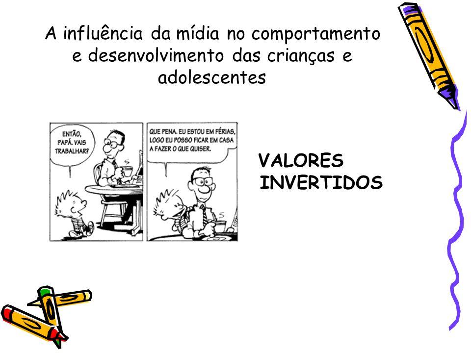 A influência da mídia : Principais Resultados Distorção dos valores fundamentais que desejam transmitir aos filhos
