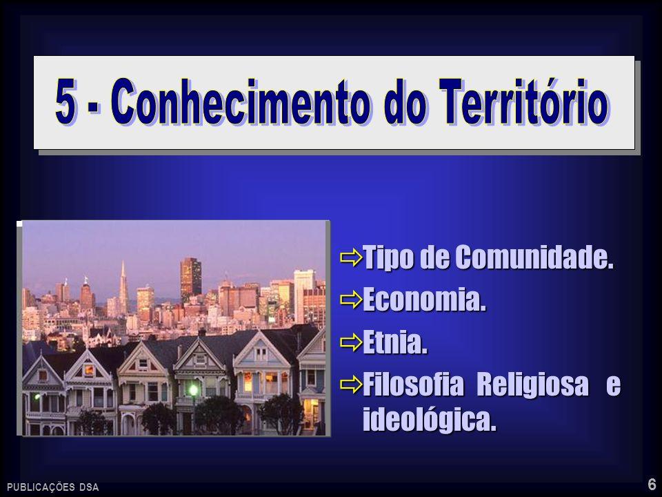 6 Tipo de Comunidade. Tipo de Comunidade. Economia. Economia. Etnia. Etnia. Filosofia Religiosa e ideológica. Filosofia Religiosa e ideológica. PUBLIC