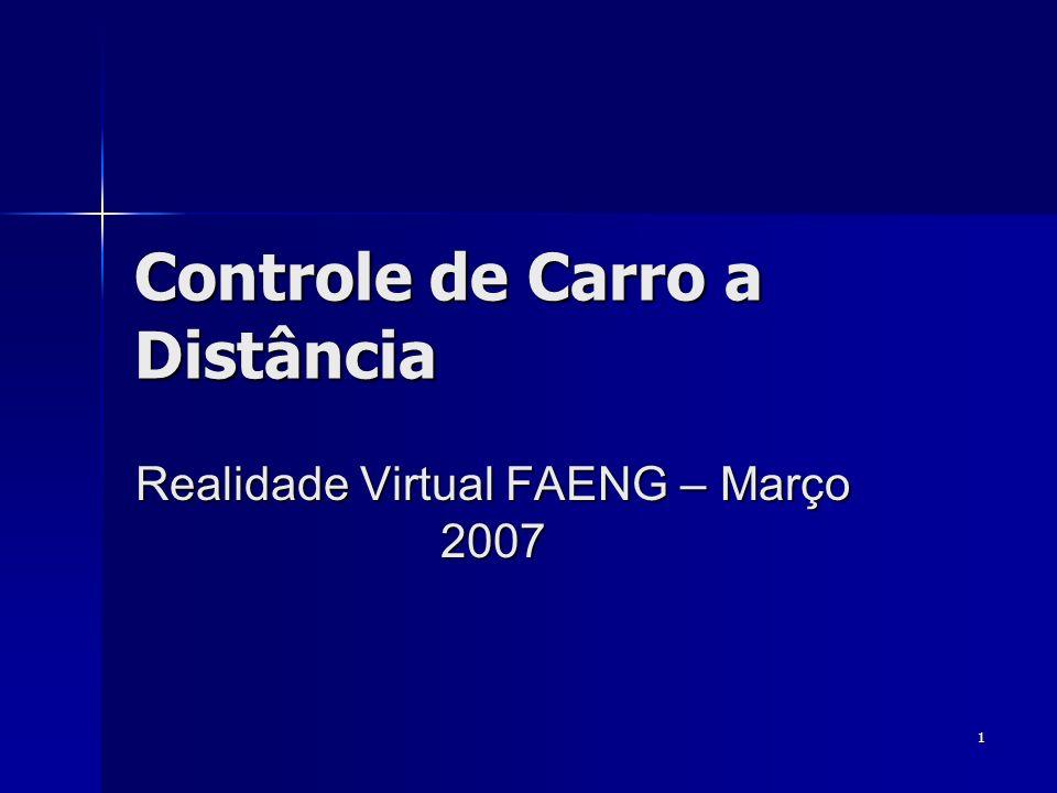 1 Controle de Carro a Distância Realidade Virtual FAENG – Março 2007