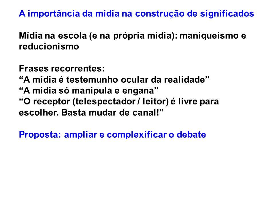 Principais teorias sobre a mídia 5 ESTUDOS DE RECEPÇÃO TESES A- O conteúdo veiculado pelos meios de comunicação é polissêmico (aberto a diversos significados).