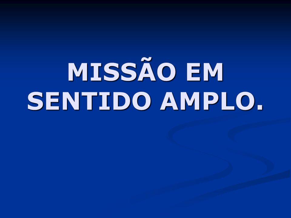 MISSÃO EM SENTIDO AMPLO.