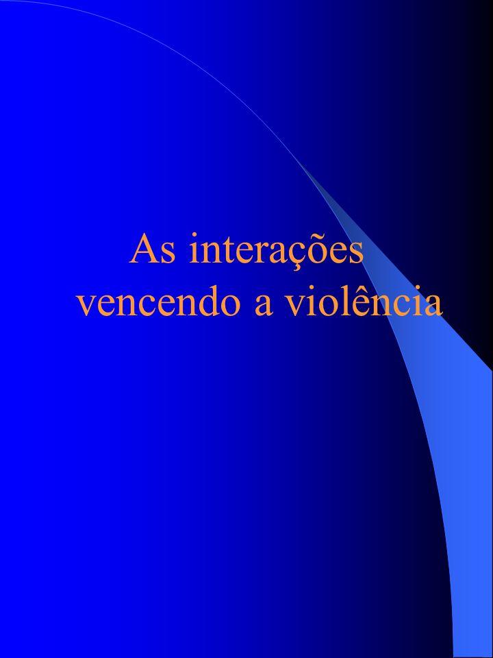 As interações vencendo a violência