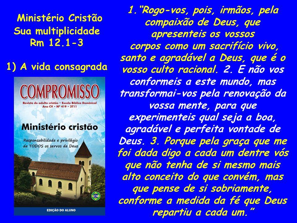 Ministério Cristão Sua multiplicidade Rm 12.4-8 2) A distribuição dos dons para ministrar 4.