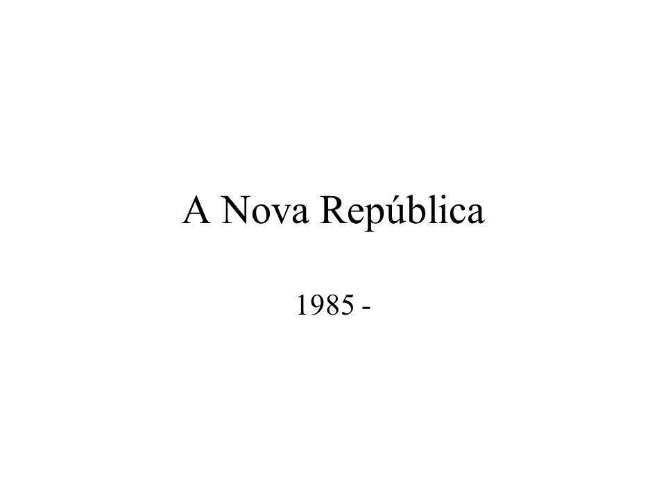 José Sarney Emendas à Constituição de 1967 –Eleições diretas para o sucessor de Sarney –Fim da fidelidade partidária –Liberdade para criação de partidos políticos