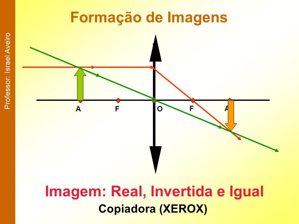 Formação de Imagens AFOFA Imagem: Real, Invertida e Igual Copiadora (XEROX) Professor: Israel Aveiro