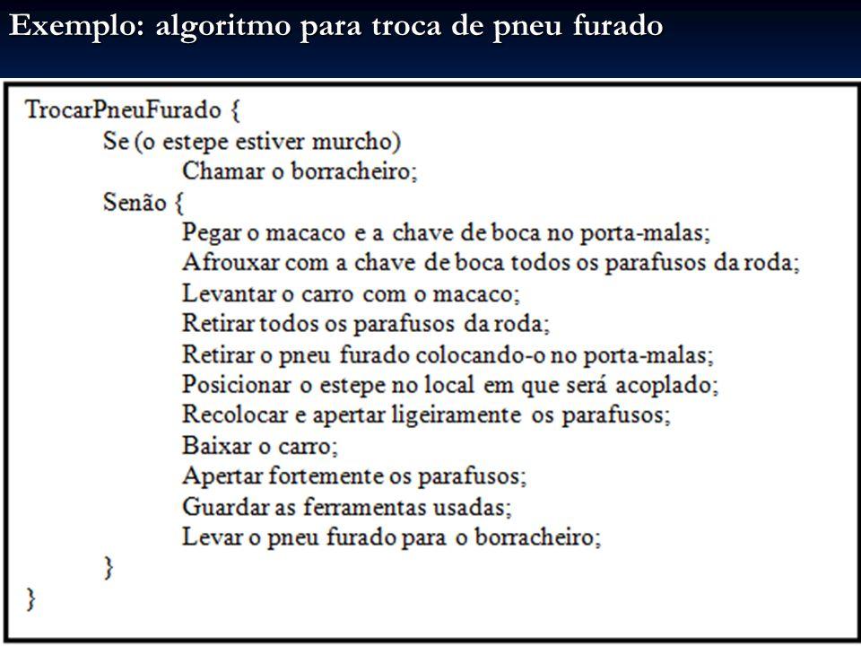 Algoritmo do fatorial: A multiplicação cumulativa tem caráter repetitivo Isso é expresso pelo comando enquanto Se o valor lido para n for 7: Resultado escrito: Fatorial (7) = 5040