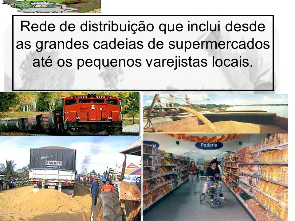 Prof. Wilton Oliveira Rede de distribuição que inclui desde as grandes cadeias de supermercados até os pequenos varejistas locais.