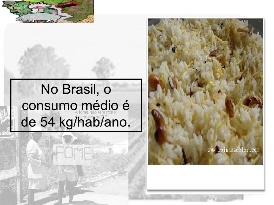Prof. Wilton Oliveira No Brasil, o consumo médio é de 54 kg/hab/ano.