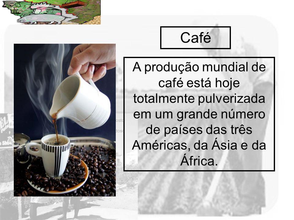Prof. Wilton Oliveira Café A produção mundial de café está hoje totalmente pulverizada em um grande número de países das três Américas, da Ásia e da Á