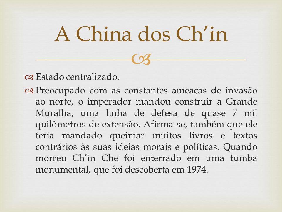 A dinastia Han restabeleceu o império.