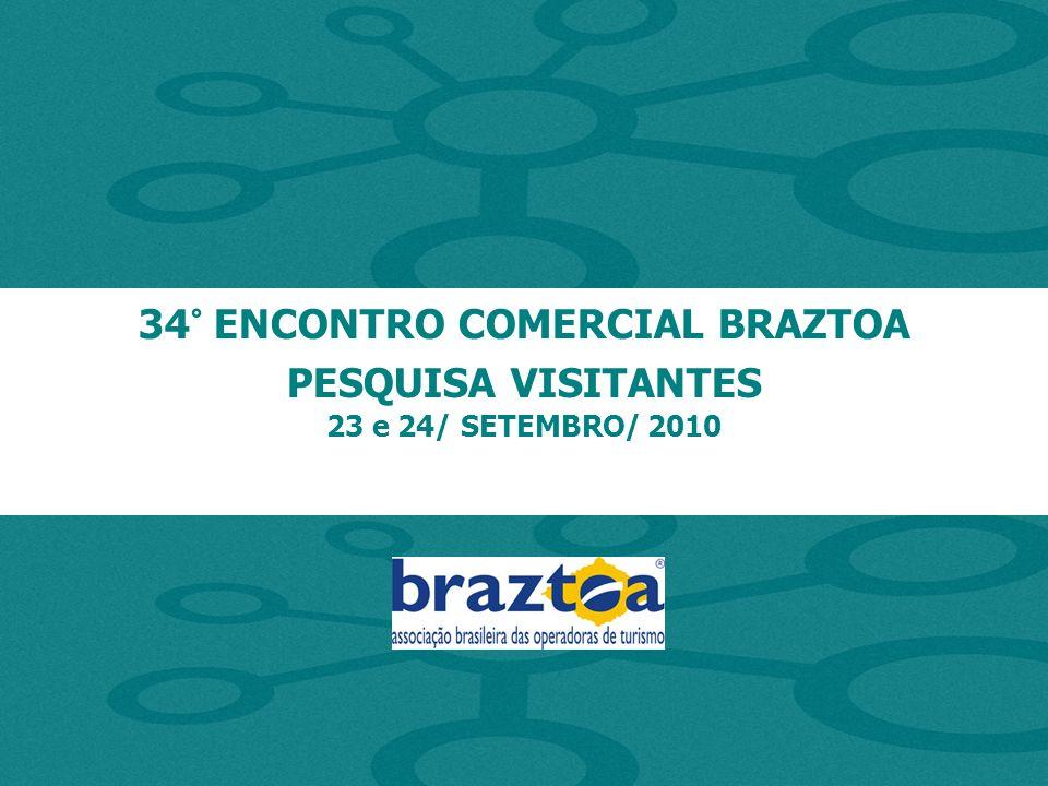 34° ENCONTRO COMERCIAL BRAZTOA PESQUISA VISITANTES 23 e 24/ SETEMBRO/ 2010