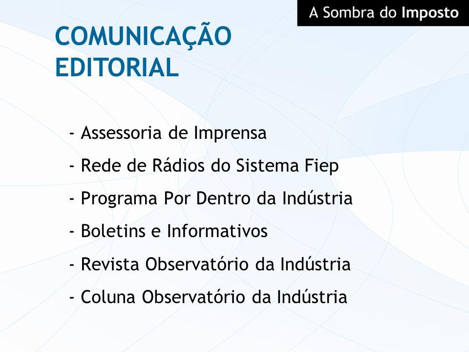 COMUNICAÇÃO EDITORIAL - Assessoria de Imprensa - Rede de Rádios do Sistema Fiep - Programa Por Dentro da Indústria - Boletins e Informativos - Revista