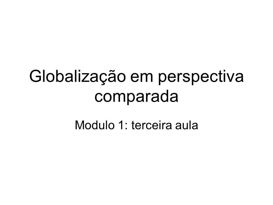 Globalização em perspectiva comparada Modulo 1: terceira aula