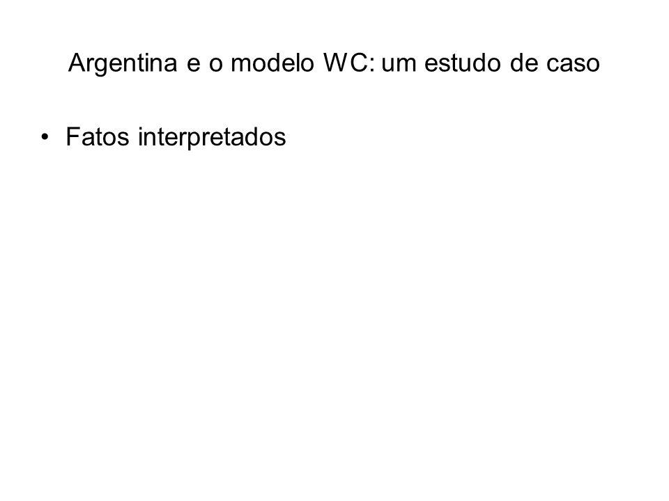 Argentina e o modelo WC: um estudo de caso Fatos interpretados