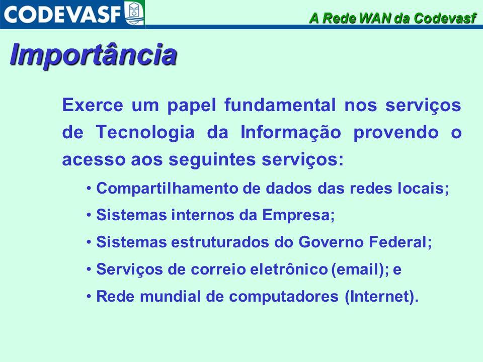Importância Exerce um papel fundamental nos serviços de Tecnologia da Informação provendo o acesso aos seguintes serviços: Compartilhamento de dados d