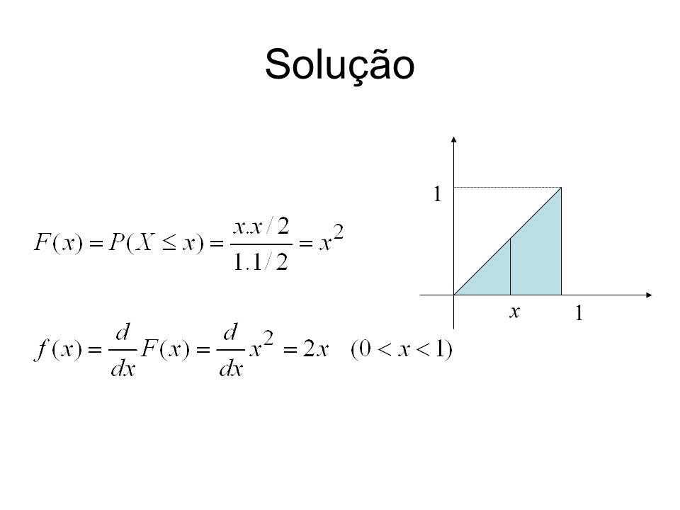 Solução 1 1 x
