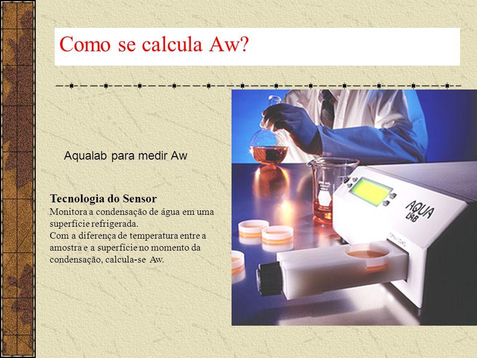 Aqualab para medir Aw Tecnologia do Sensor Monitora a condensação de água em uma superfície refrigerada. Com a diferença de temperatura entre a amostr