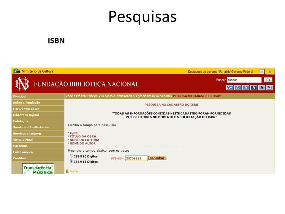 Pesquisas ISBN