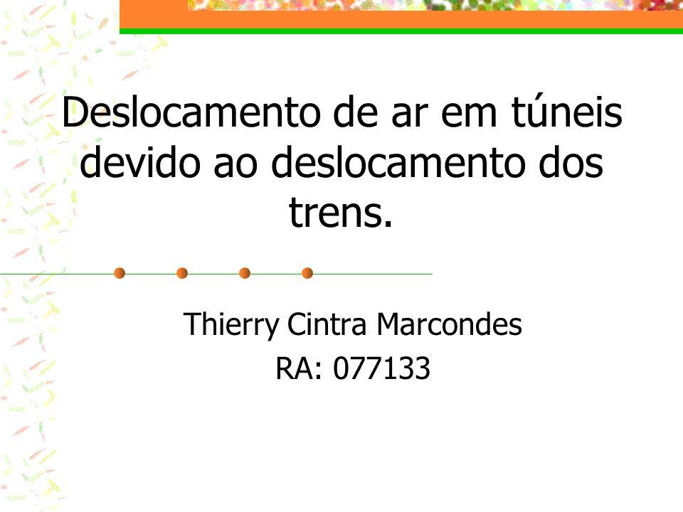 Deslocamento de ar em túneis devido ao deslocamento dos trens. Thierry Cintra Marcondes RA: 077133