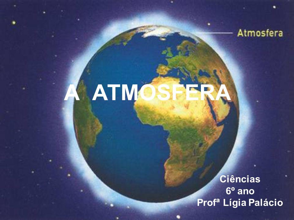 A atmosfera Atmosfera significa esfera de ar; A atmosfera é uma camada formada por diversos gases e vapor de água,que envolve todo o nosso planeta; Sem a atmosfera provavelmente não haveria vida em nosso planeta.