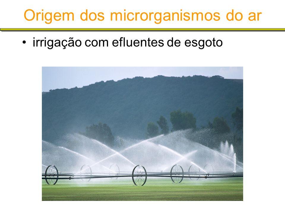 Origem dos microrganismos do ar irrigação com efluentes de esgoto
