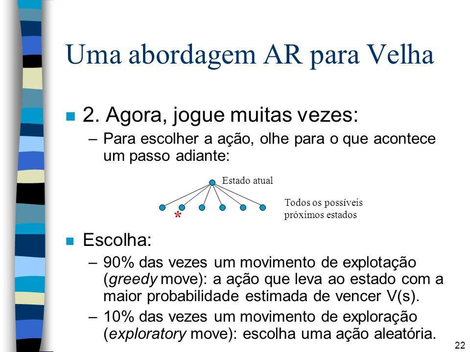 22 Uma abordagem AR para Velha n 2.