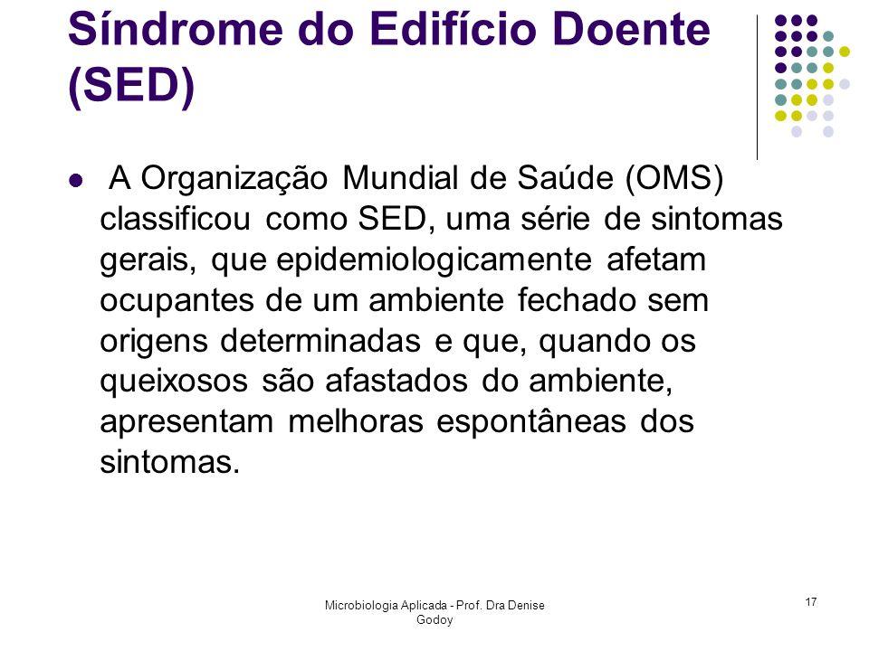 Síndrome do Edifício Doente (SED) A Organização Mundial de Saúde (OMS) classificou como SED, uma série de sintomas gerais, que epidemiologicamente afe