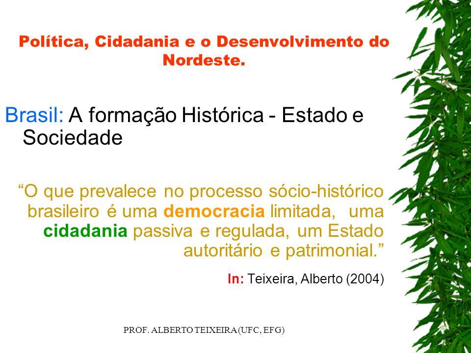 Política, Cidadania e o Desenvolvimento do Nordeste. Brasil: A formação Histórica - Estado e Sociedade O que prevalece no processo sócio-histórico bra