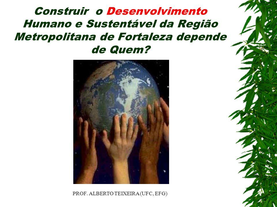 Construir o Desenvolvimento Humano e Sustentável da Região Metropolitana de Fortaleza depende de Quem? PROF. ALBERTO TEIXEIRA (UFC, EFG)