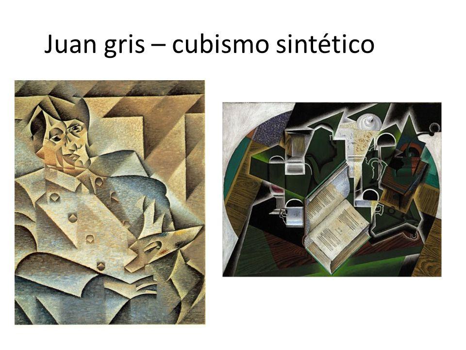 Juan gris – cubismo sintético