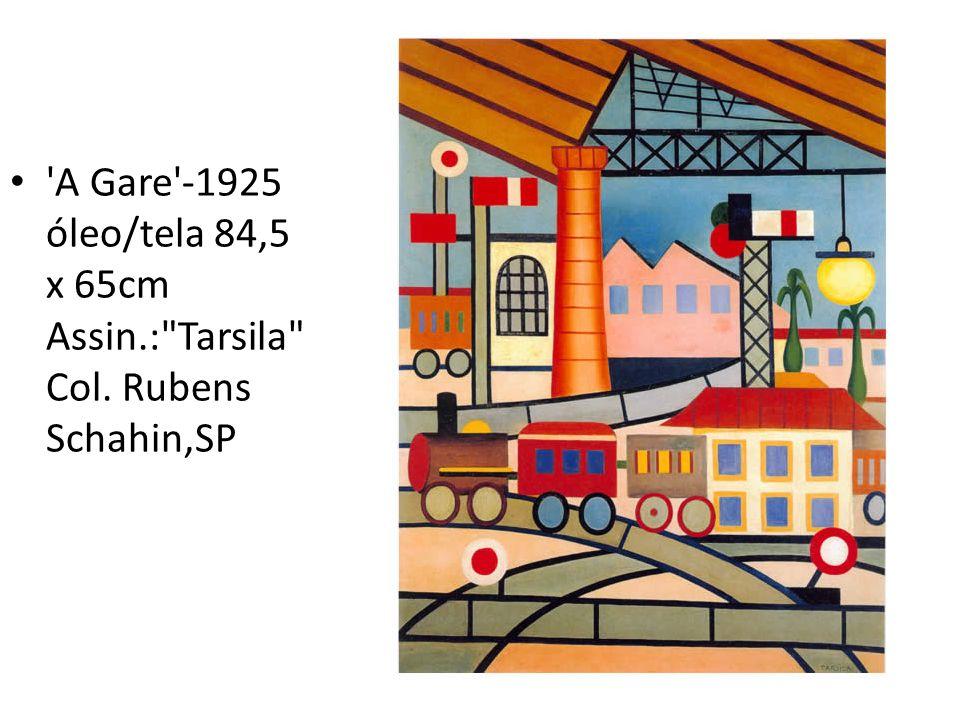 'A Gare'-1925 óleo/tela 84,5 x 65cm Assin.:
