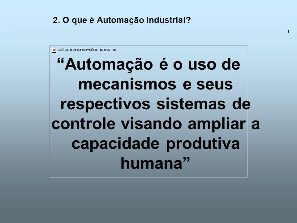 Universidade Católica de GoiásFevereiro/2003 10 2. O que é Automação Industrial? Automação é o uso de mecanismos e seus respectivos sistemas de contro