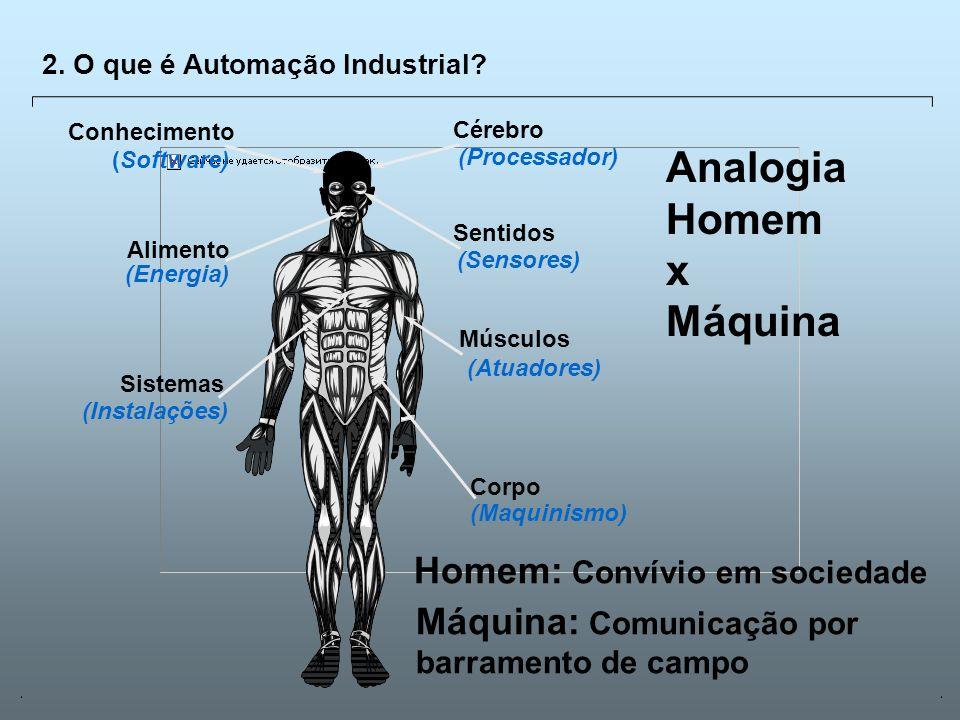 Universidade Católica de GoiásFevereiro/2003 12 (Maquinismo) (Instalações) (Atuadores) (Energia) (Sensores) (Processador) (Software) 2. O que é Automa
