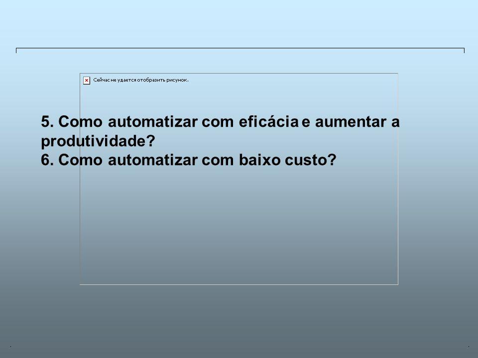 Universidade Católica de GoiásFevereiro/2003 19 5. Como automatizar com eficácia e aumentar a produtividade? 6. Como automatizar com baixo custo?