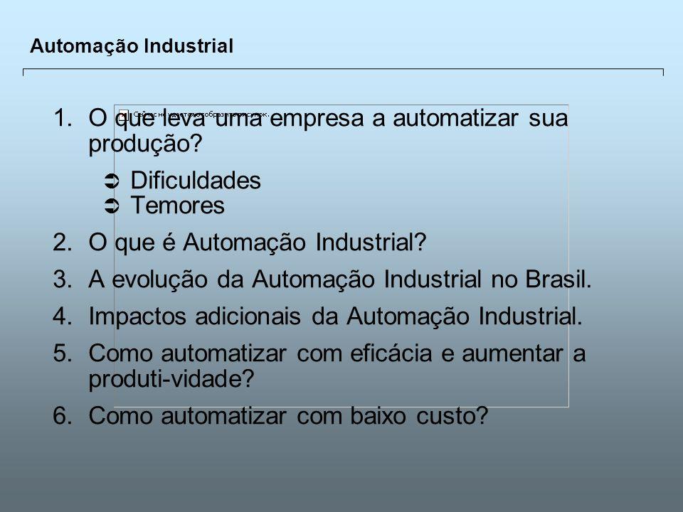 Universidade Católica de GoiásFevereiro/2003 2 Automação Industrial 1.O que leva uma empresa a automatizar sua produção? Dificuldades Temores 2.O que