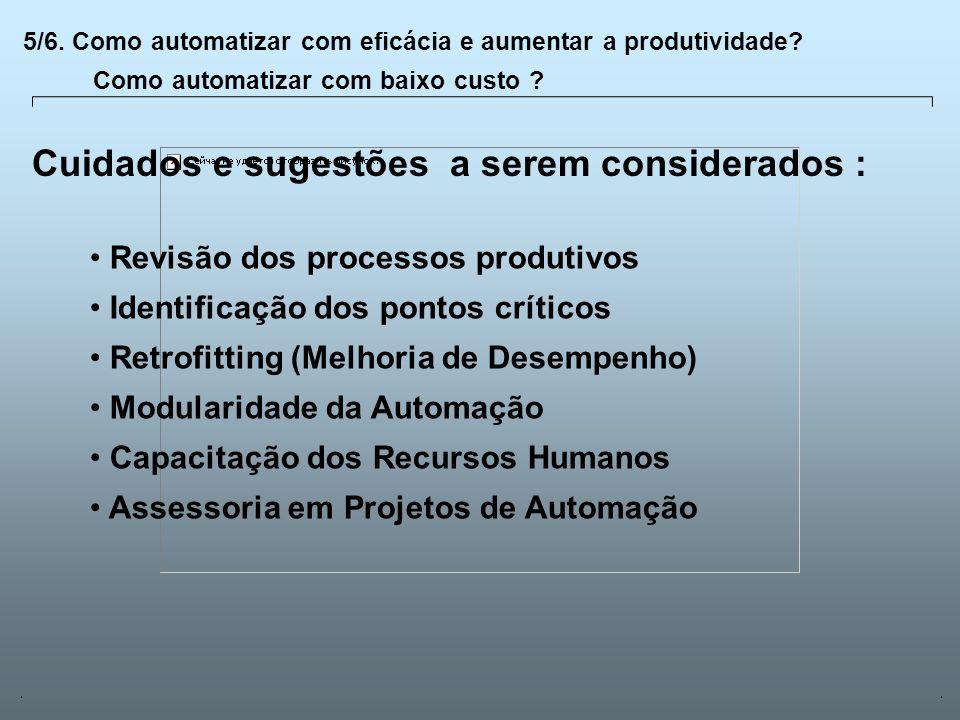 Universidade Católica de GoiásFevereiro/2003 20 5/6. Como automatizar com eficácia e aumentar a produtividade? Como automatizar com baixo custo ? Revi