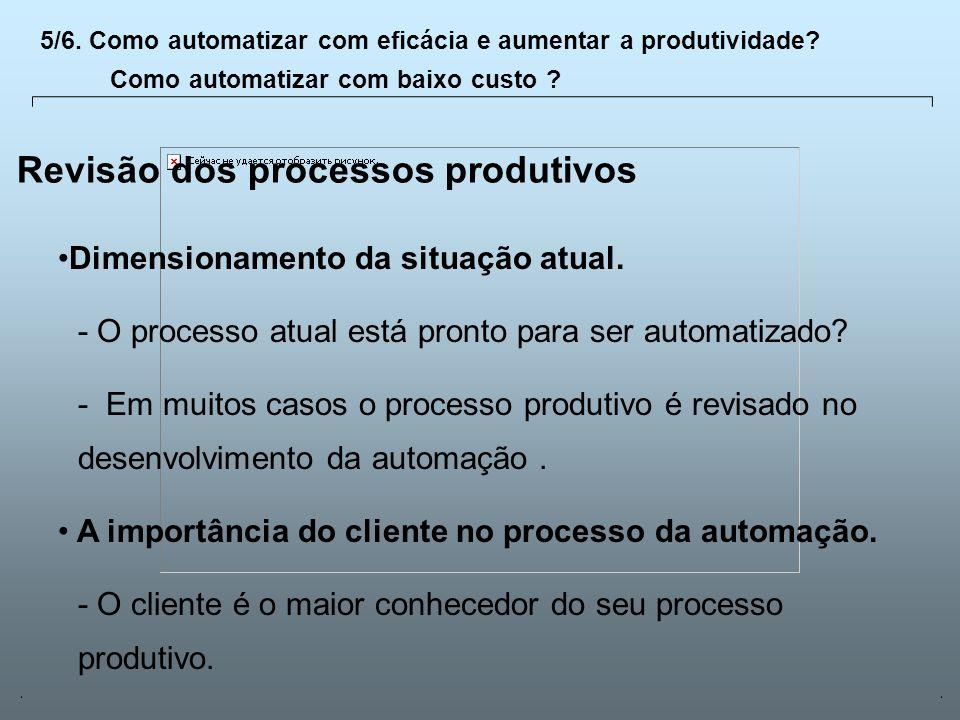 Universidade Católica de GoiásFevereiro/2003 21 Revisão dos processos produtivos Dimensionamento da situação atual. - O processo atual está pronto par