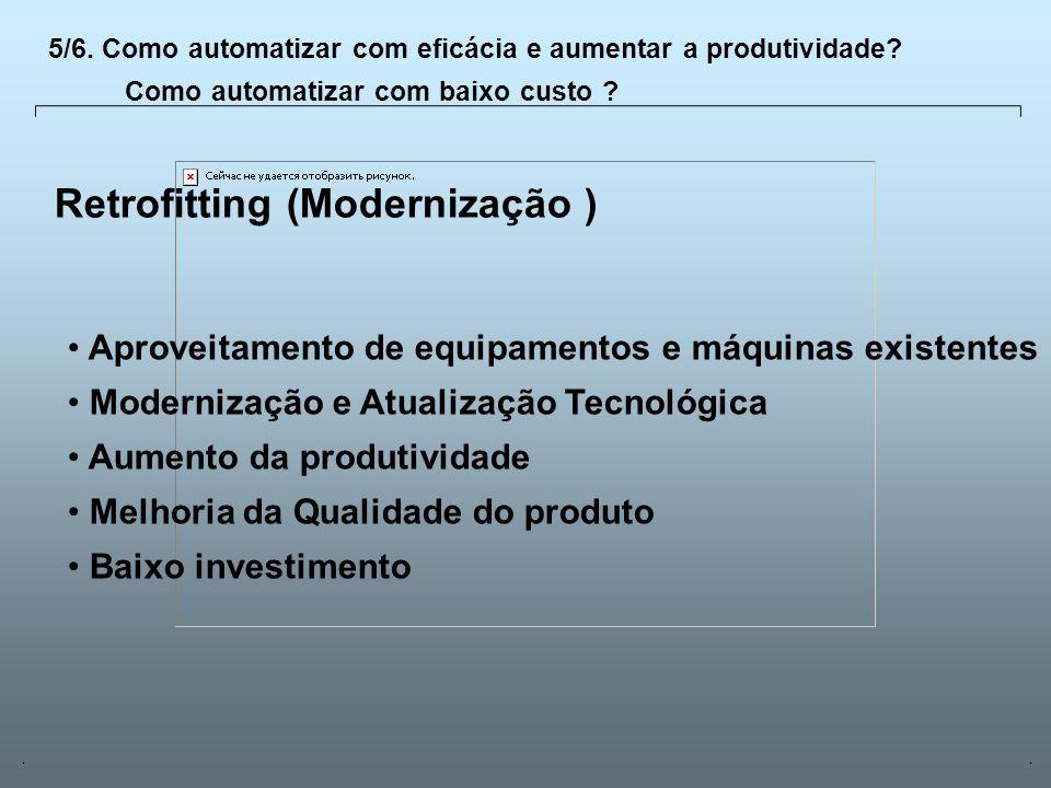 Universidade Católica de GoiásFevereiro/2003 23 Retrofitting (Modernização ) Aproveitamento de equipamentos e máquinas existentes Modernização e Atual
