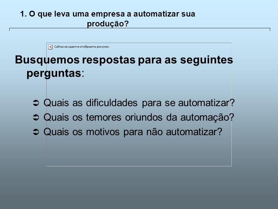 Universidade Católica de GoiásFevereiro/2003 4 1. O que leva uma empresa a automatizar sua produção? Busquemos respostas para as seguintes perguntas: