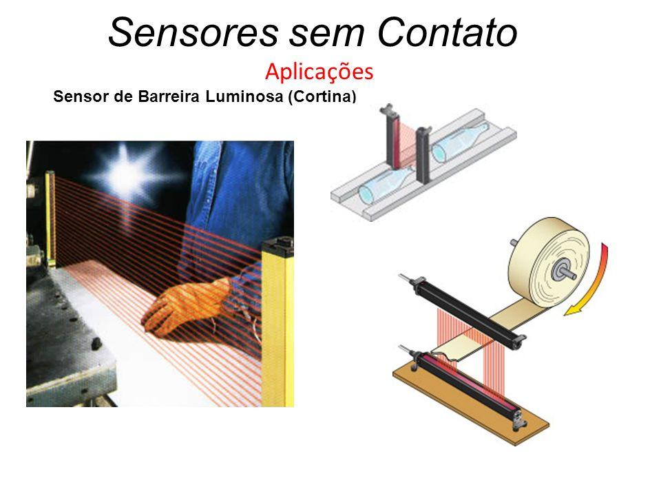 Sensores sem Contato Aplicações Sensor de Barreira Luminosa (Cortina)