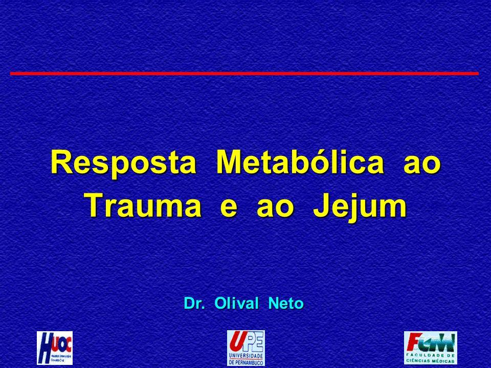 Resposta Metabólica ao Trauma e ao Jejum Dr. Olival Neto