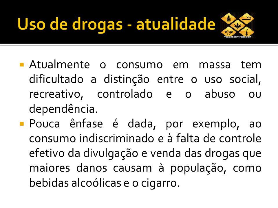 O consumo abusivo de drogas é um problema de saúde pública e torna-se necessário uma ação preventiva para interferir neste processo.