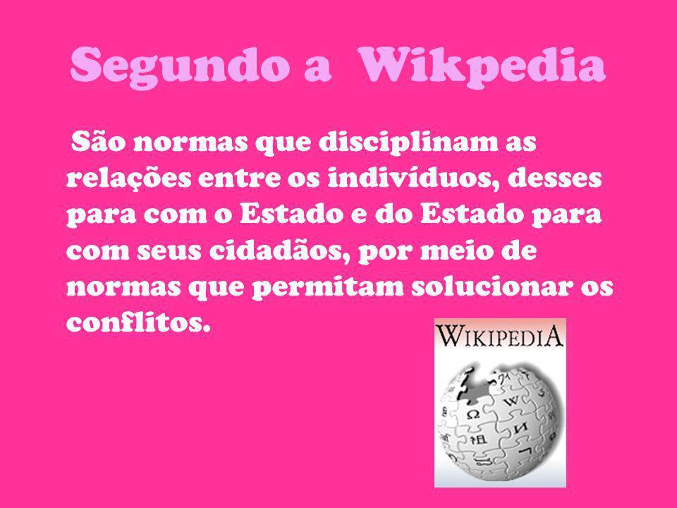 Segundo a Wikpedia São normas que disciplinam as relações entre os indivíduos, desses para com o Estado e do Estado para com seus cidadãos, por meio d