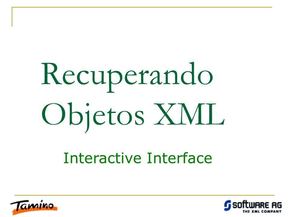 Recuperando Objetos XML Interactive Interface