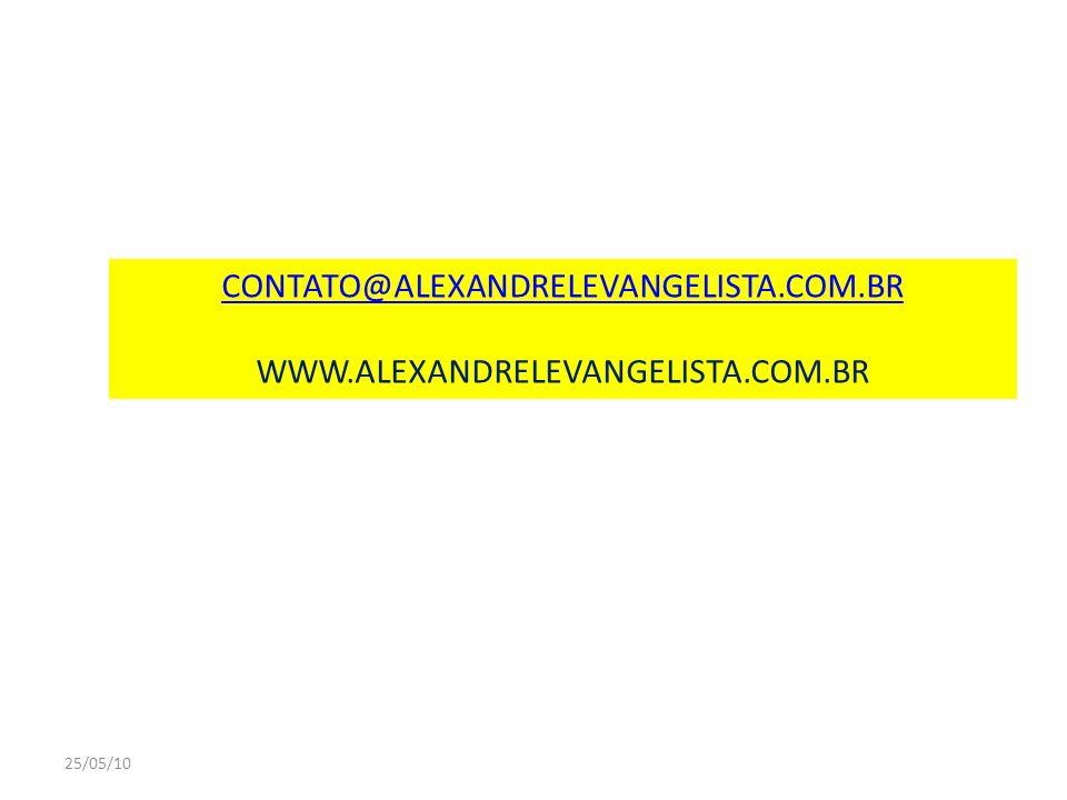 25/05/10 CONTATO@ALEXANDRELEVANGELISTA.COM.BR WWW.ALEXANDRELEVANGELISTA.COM.BR