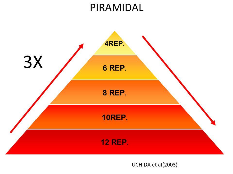 PIRAMIDAL 4REP. 6 REP. 8 REP. 10REP. 12 REP. 3X UCHIDA et al(2003)