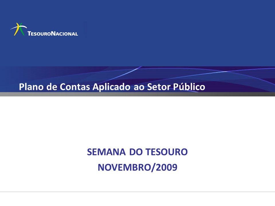 Plano de Contas Aplicado ao Setor Público SEMANA DO TESOURO NOVEMBRO/2009